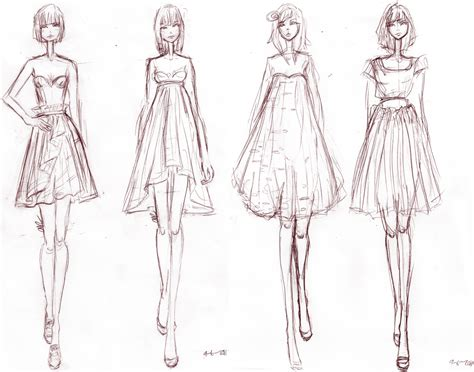 Sketches Clothes fashion design sketches of dresses black and white 2015