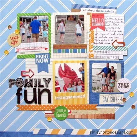 Frugal Scrapbooking 2 9 by Horton Designs Family A Scrapbook Layouts