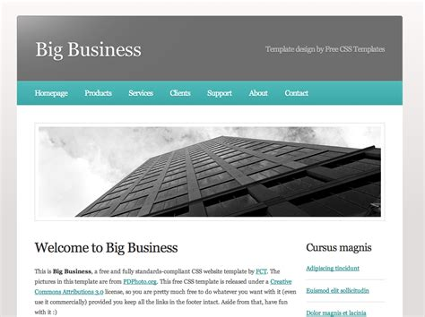 weaver template free dreamweaver business website templates
