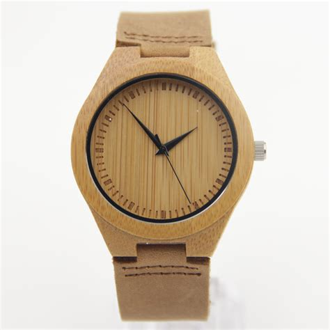 Original Zenon Premium Real Bamboo Waterproof Wooden Japan A04 new arrival japanese miyota 2035 movement wristwatches genuine leather bamboo wooden watches for