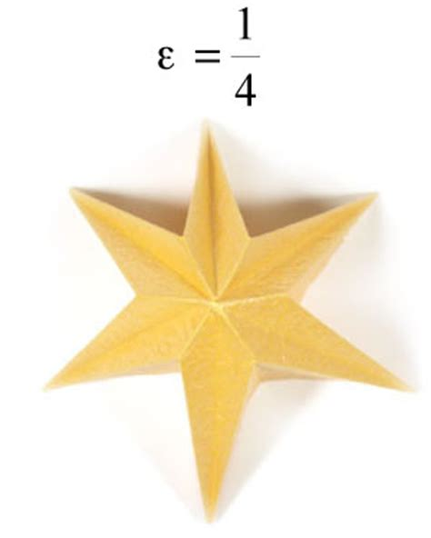 Origami Six Pointed - how to make a six pointed easy embossed origami paper