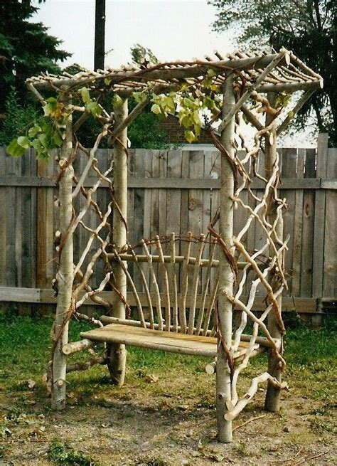 diy trellis arbor things made of branches made from pruned branches