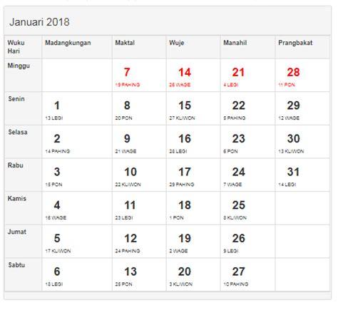 Kalender 2018 Surabaya Template Cetak Kalender 2018