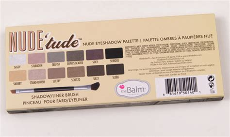 Thebalm Tude Palette thebalm tude eyeshadow palette review photos swatches