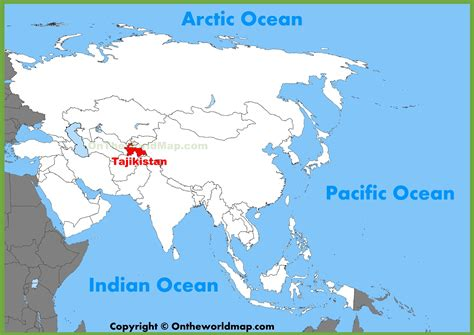 tajikistan map tajikistan location on the asia map