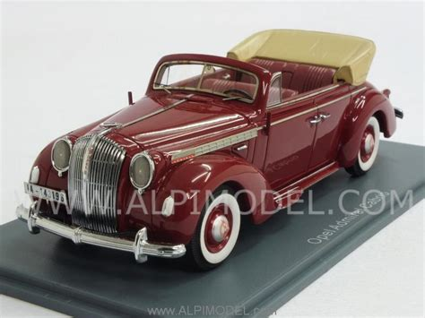 opel admiral 1938 neo 43196 opel admiral cabriolet 1938 red 1 43