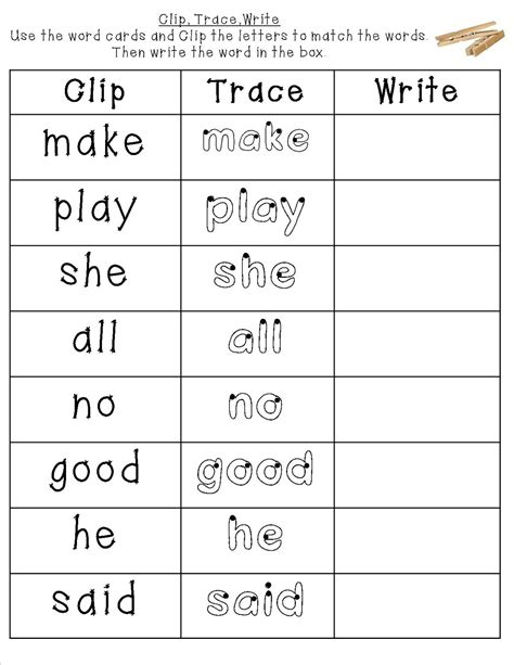 printable tracing color words mrs bohaty s kindergarten kingdom february 2013