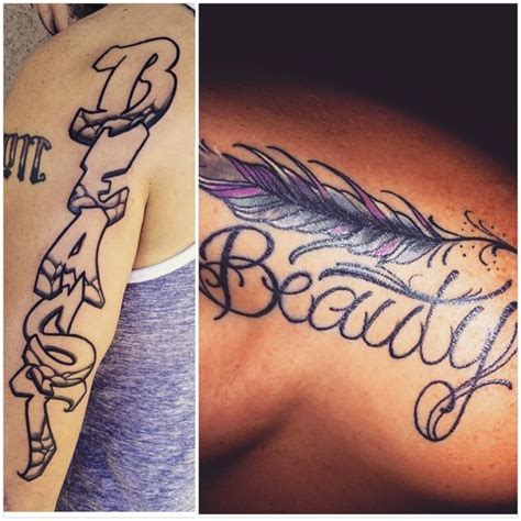 beauty and the beast couple tattoo and the beast