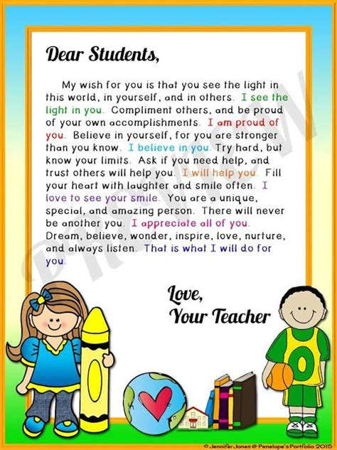 Introduction Letter To Kindergarten Students 25 Best Ideas About Student Welcome Letters On Welcome Letter School Classroom
