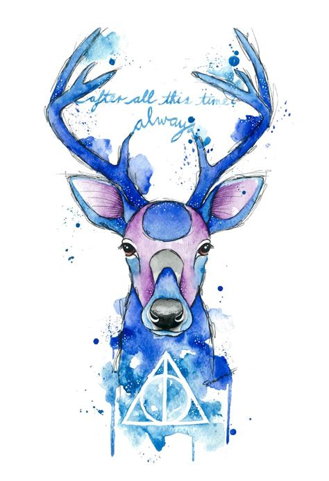 cing tattoos always harry potter patronus print by simona