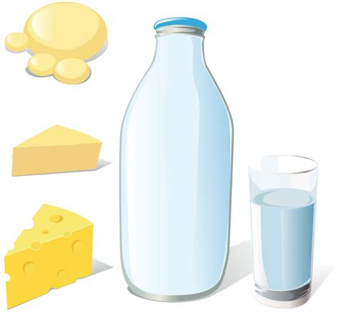 milk design eps set of milk and cheese design vector graphics 01 vector