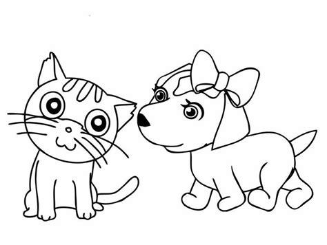 imagenes para colorear gato lindos gatos en caricatura para colorear e imprimir