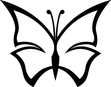 butterfly pattern black and white clipart butterfly vector art cliparts co