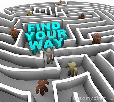 Ways To Find Find Your Way Through A Maze Stock Photos Image 11744763