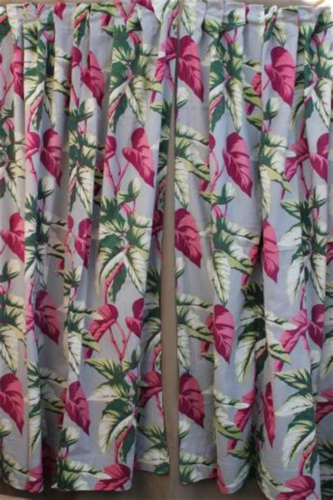 barkcloth curtains 50s vintage barkcloth drapes cotton barkcloth fabric w