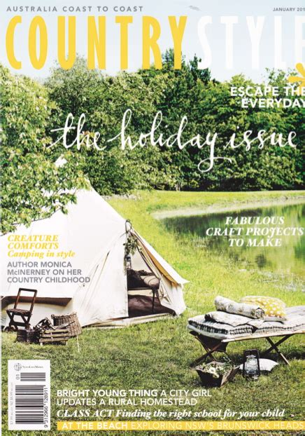 country style magazine country style magazine s bell tent from happy gler
