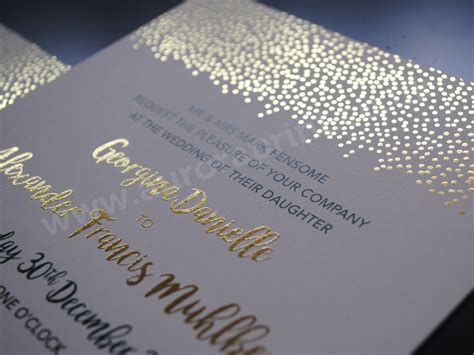 Printed Wedding Invitations by Foil Printed Wedding Invitations And Stationery
