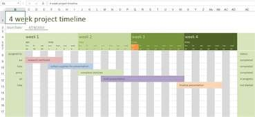 Excel Project Timeline Template by Excel Project Timeline With Calendar Calendar Template 2016