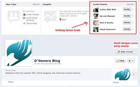 membuat facebook fan page cara membuat fan page facebook untuk blogger 2013 d genera
