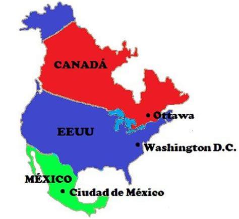 mapa politico de america con todos los paises pa 237 ses y capitales de am 233 rica norte saber es pr 225 ctico