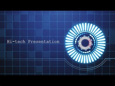 Hi Tech Presentation Template Free Download Youtube High Tech Powerpoint Templates