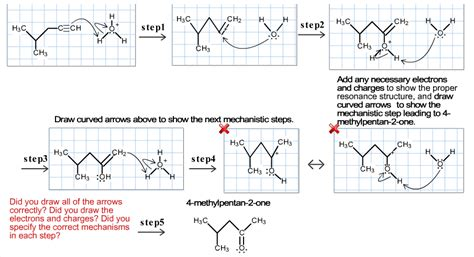 doodle how to make mechanism draw the curved arrow mechanism for the reaction o