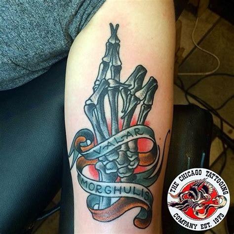valar morghulis tattoo 40 fanciful valar morghulis designs