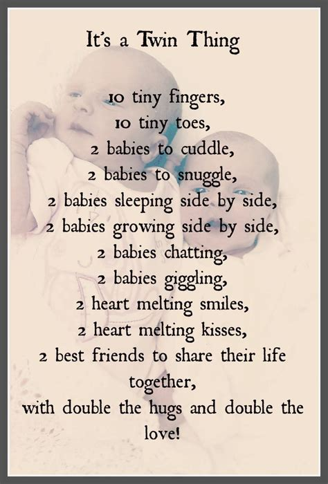 printable twin quotes poems for twins girls welcome to twinlifeonline shared