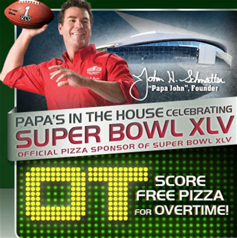 Papa Johns Giveaway - how to win the super bowl with email marketing email marketing smtp services mailjet