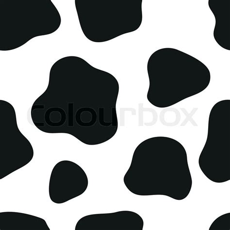 cow pattern background free vector cow background stock vector colourbox