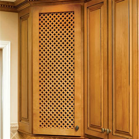 Lattice Cabinet Doors Door Inserts Solid Wood Diagonal Lattice Cabinet Door Inserts By Omega National