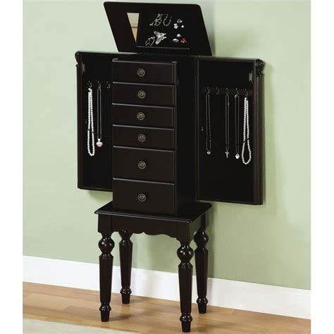 jewelry armoire black powell furniture ebony distressed ebony black jewelry