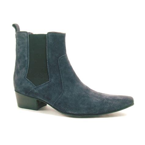 buy heel navy suede chelsea boot gucinari