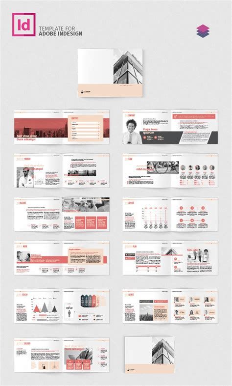 company profile template indesign company profile landscape template adobe indesign template