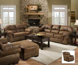 microfiber living room furniture pinto tobacco finish microfiber living room sofa and