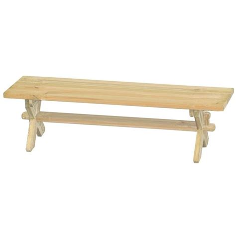 backless wooden benches alexander rose pine farmers backless wooden bench 6ft 1