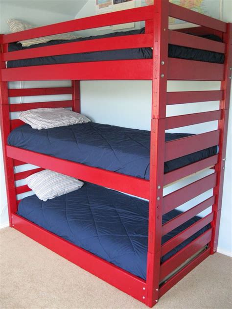 Triple Bunk Beds Our Space Saving Solution Triple Bunk Three Bed Bunk Beds