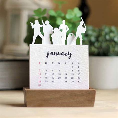 Wars Desk Calendar by Handmade Minimal Wars Desk Calendar 2016 With Wood