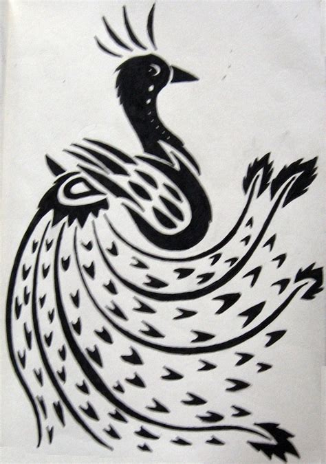 tribal peacock tattoos ideas design