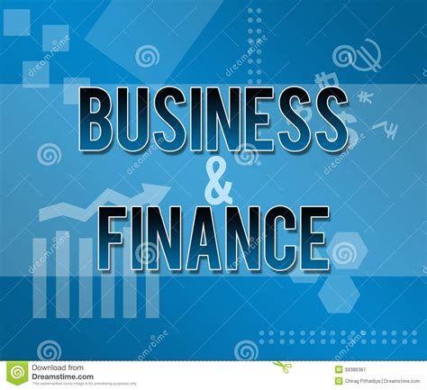 Free Mba School Of Business And Finance by Business And Finance Blue Themed Background Stock Image