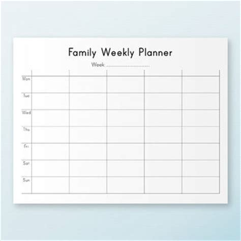 weekly family calendar template planner kit printable pdf daily from