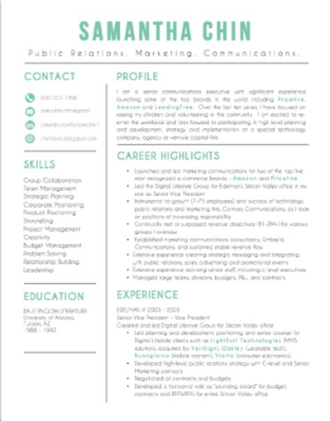 sle resume for returning to work sle resume for stay at home reentering workforce