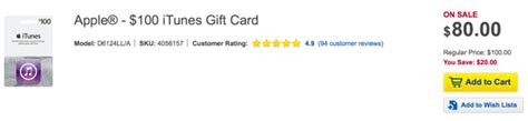 Itunes Vs App Store Gift Card - best buy offering 100 itunes gift card for 80