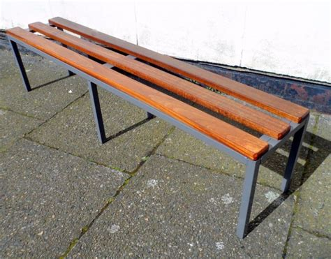 wooden changing room benches vintage gym changing room grey metal hardwood bench circa 1970s industrial school