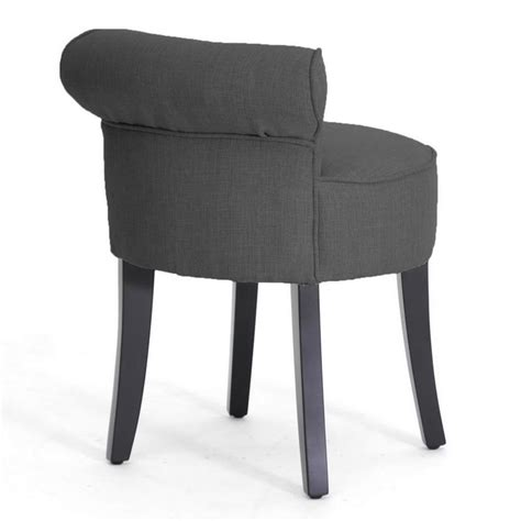 Tufted Vanity Stool by Gray Linen Modern Button Tufted Low Lounge Accent