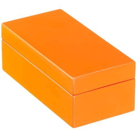 Gift Box Storage By Gizelshop orange lacquered storage boxes the container store