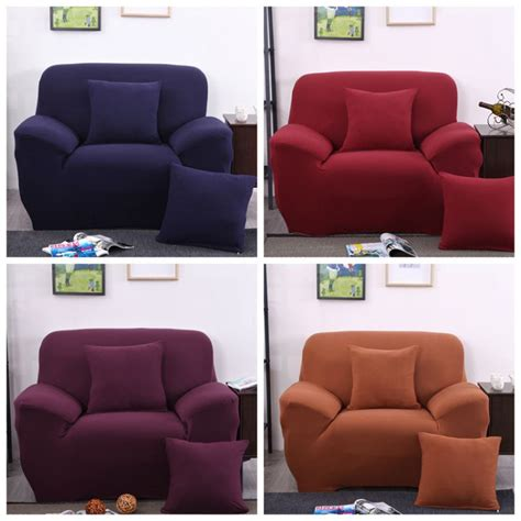 2 seater couch cover two seater solid colors textile spandex strench elastic