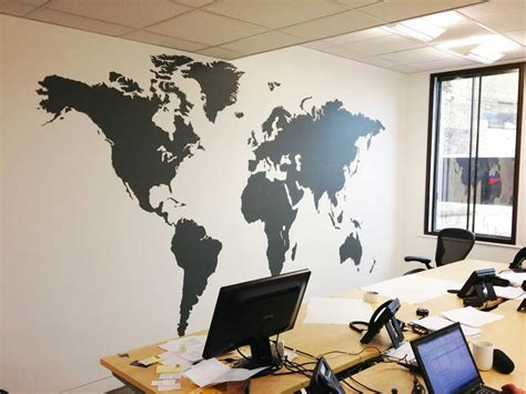 large wall map large world map office vinyl wall sticker vinyl