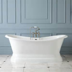 pedestal bathtub 72 quot langly cast iron double slipper pedestal tub bathtubs bathroom