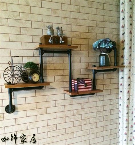 The Shelf Cafe by American Cafe Coffee Vintage Decorative Wrought Iron Wood Clapboard Wall Shelf Bookcase